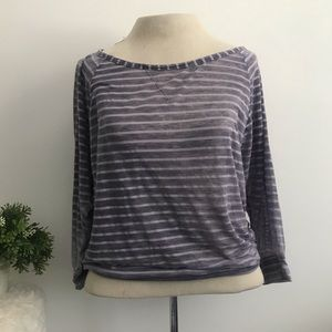 Splendid burnout striped long sleeve top